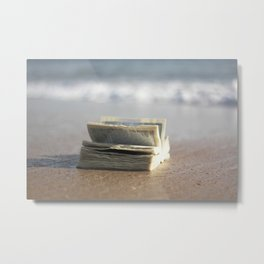 Book on the Beach Metal Print