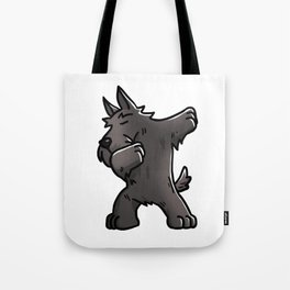 Funny Dabbing Scottish Terrier Dog Dab Dance Tote Bag