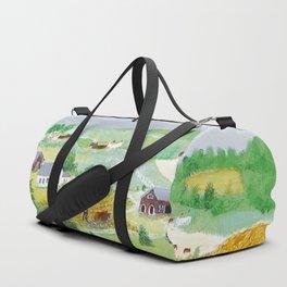 Anna Mary Robertson 'Grandma' Moses Mountains American Folk Art Duffle Bag