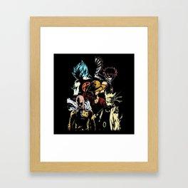 Anime heroes 3 Framed Art Print