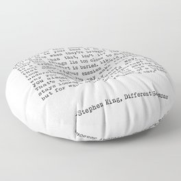 The Most Important Things Are The Hardest To Say Life Quote By Stephen King, Creative And Motivation Floor Pillow