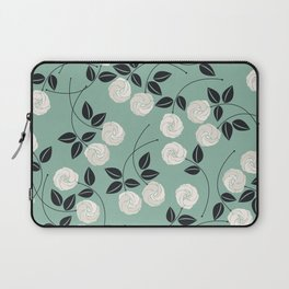Pattern with white roses Laptop Sleeve