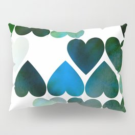 Mod Blue Hearts Pillow Sham