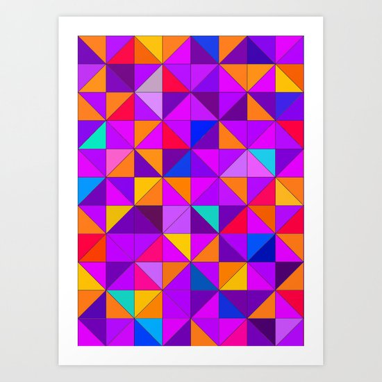 Purple and orange Art Print