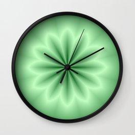 Green Abstract Star Wall Clock