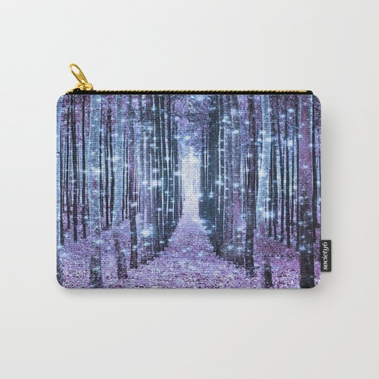 Magical Forest Lavender Ice Blue Periwinkle Carry-All Pouch