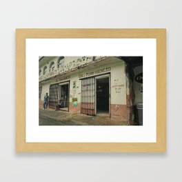 THE MAN ON THE GETTO Framed Art Print