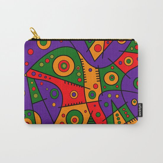 Abstract #240 Pizza Party Carry-All Pouch