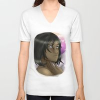 legend of korra V-neck T-shirts featuring Korra - Balance by BlackPhoenixFeathers