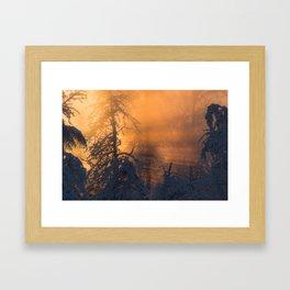 Winter Sunlight in Fairbanks Alaska Framed Art Print