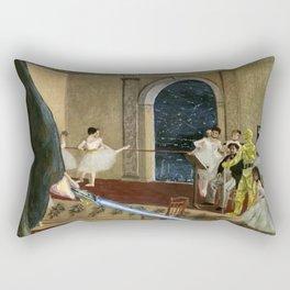 Hall of the Jedi Council: Episode III meets Edgar Degas Rectangular Pillow