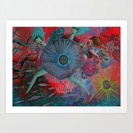 Coral Sisters Art Print