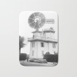 A windmill used to pump water for irrigation, Compton, California, ca.1900-1901 Bath Mat