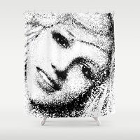 britney spears Shower Curtains featuring Spears by Mullin