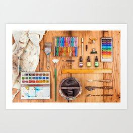 The Artist's Tools Art Print