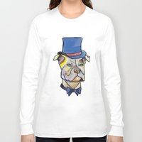 pitbull Long Sleeve T-shirts featuring Fancy Pitbull by Animal Camp