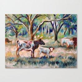 Cows and Trees (*Koinonia*) Canvas Print