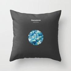 Gemstone - Adamantium Throw Pillow