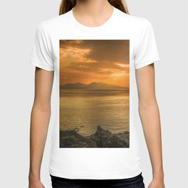 Sunset over Lismore Island of the shores of Oban in the west of Scotland. T-shirt