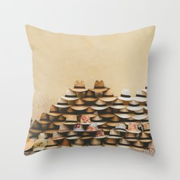 Panama Hats in Cartagena, Colombia Throw Pillow