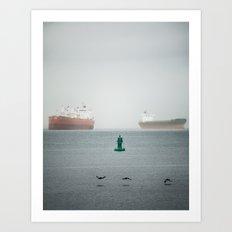 Ships and Birds  Art Print
