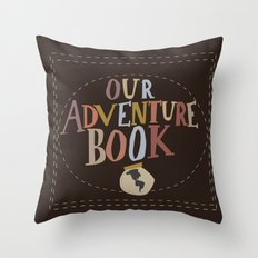 our adventure book Throw Pillow