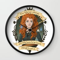 merida Wall Clocks featuring Merida - Brave by muin+staers