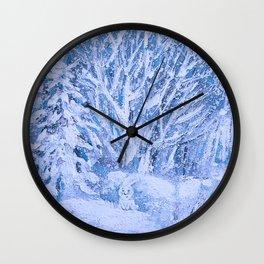 HAPPY FUNNY BUNNY) Wall Clock