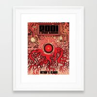 2001 a space odyssey Framed Art Prints featuring 2001: A Space Odyssey  by Michael Kemp