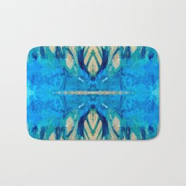 79 - Abstract feathers Bath Mat