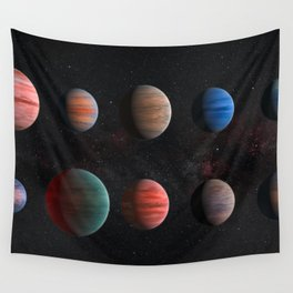 Planets : Hot Jupiter Exoplanets Wall Tapestry