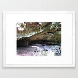 Hoosier National Forest - Rockface Framed Art Print