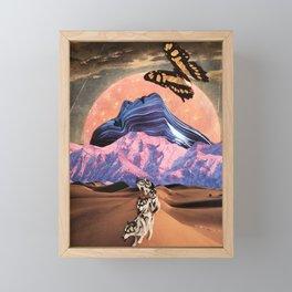 Butterfly moon Framed Mini Art Print