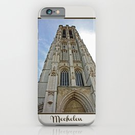 Mechelen Belgium cathedral tower iPhone Case
