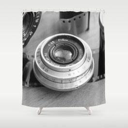 Accessories from old film cameras. Shower Curtain