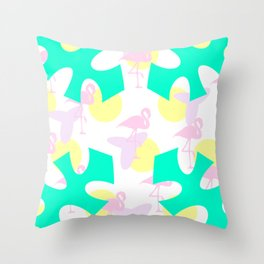 Flamingo vibrant motif Throw Pillow