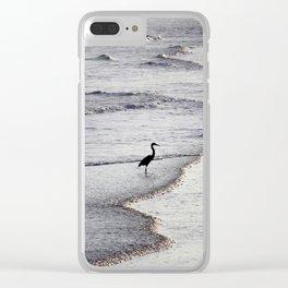 Heron On The Beach Clear iPhone Case