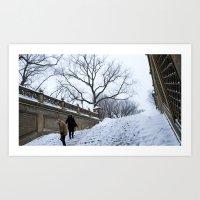 Snow in Central Park X Art Print