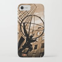 atlas iPhone & iPod Cases featuring Atlas by Chad Madden