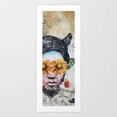 Los Arboles de Fantasia 1 Art Print