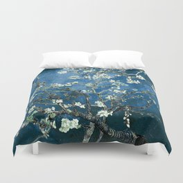 Van Gogh Almond Blossoms : Ocean Blue Duvet Cover