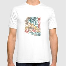 Arizona by County White Mens Fitted Tee SMALL