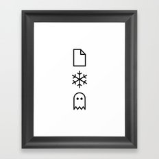 Paper, Snow, A Ghost. Framed Art Print