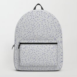 Modern abstract hand painted gray blue paint brushstrokes Backpack