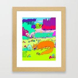 Meeting a friend Framed Art Print