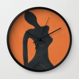 Abstract Nude II Wall Clock