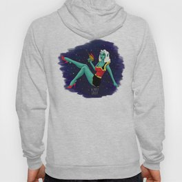 Take me to your leader! Space Girl Pin-up. Hoody