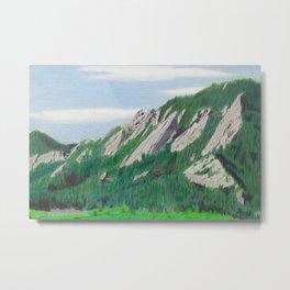 Boulder Flatirons in the Summer Metal Print