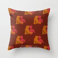 moschino Throw Pillows featuring RENAISSANCE IN LOVE - Francesco Mosca (Il Moschino), Atalanta and Meleager with the Calydonian Boar by Fırat Canbay