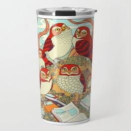Burrowing Owl Family Travel Mug